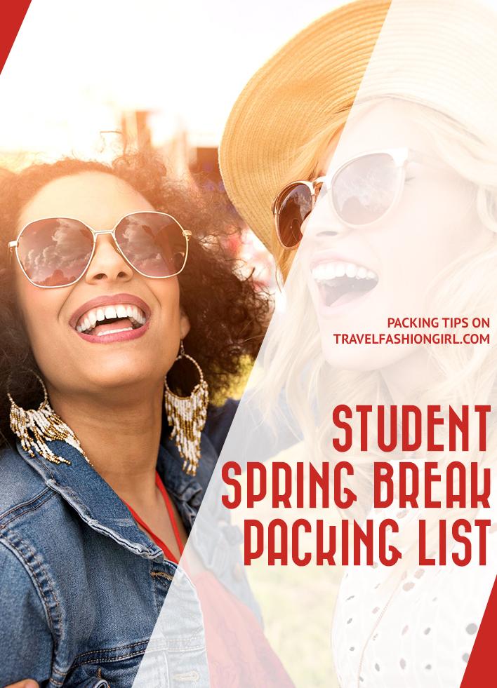 student-spring-break-packing-list